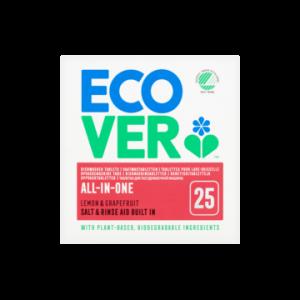 ECOVER Tablete ecologice pentru mașina de spălat vase (All-in-one), 500 gr, 25 de bucăți